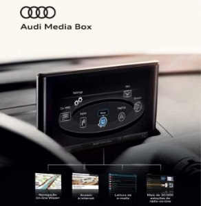 Modulo Multimédia Audi Media Box + Cabos de Energia + Kit de Peça para Monstagem - A3 - A4 Avant Ambiente - A3 - A4 Sedan Attraction c/ nav. | Ambiente | Ambition | Launch Edition e Launch Edition Plus - A5 Ambiente | Ambition Plus - RÁDIO I8H