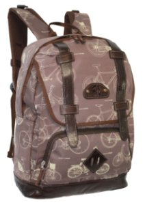 Mochila Notebook Chicago Bike 26 L Northpak Lona e Couro