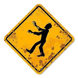 Placa Decorativa 30x30 Zombies