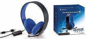 Headset Silver Sony 7.1 Stereo Fone Fio Ps4 Ps3 Ps Vita