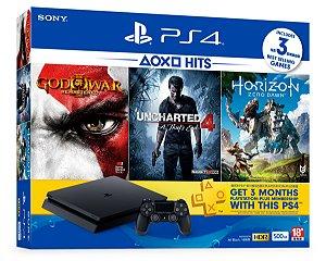 Console Playstation 4 Slim - HD 500 Gb + 3 Jogos - PS4