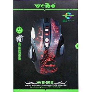 MOUSE GAMER COM LED COLORIDO WB 912