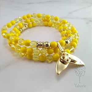 Guia Oxum | Porcelana e Cristal Amarelo