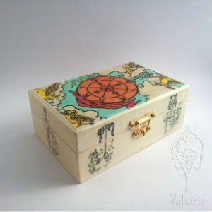 Porta Baralho - Caixa para Tarot Roda da Fortuna