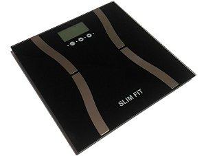 Balança Digital Slim Fit 9 funções – Taxa gordura, Água, IMC, Peso Completa