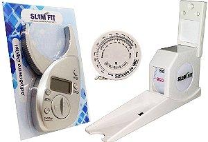 Kit Adipômetro Digital - Estadiômetro e Trena com disco de IMC para Avaliação Física - Slim Fit