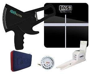 Kit Avaliação Física Adipômetro + Balança + Estadiômetro +Trena