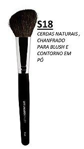 S18 - PINCEL GRANDE CHANFRADO  SFFUMATO BEAUTY - CERDAS NATURAIS