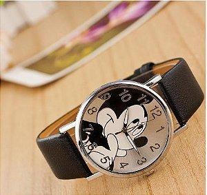 Relógio Moda dos desenhos animados Mickey Mouse