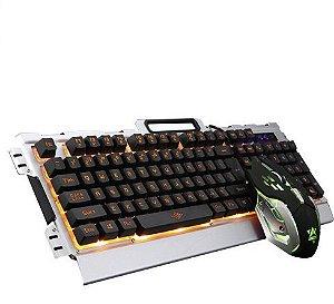 Teclado e Mouse Gamer  iluminado Multimídia