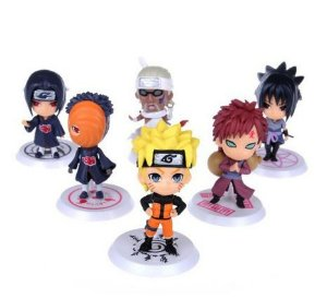 6 peças Action Figure do anime Naruto