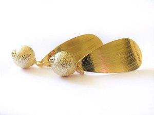 Brinco Esfera Dourado