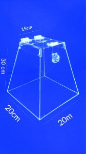 Urna Pirâmide de Acrílico 30 x 20 cm