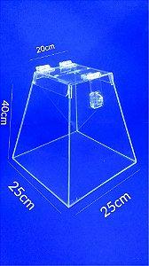 Urna Pirâmide de Acrílico 40 x 25 cm