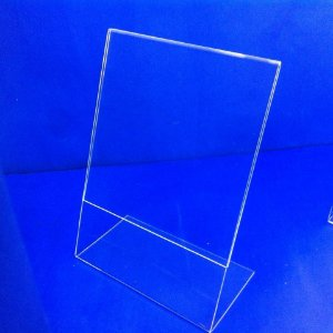 Display porta folhetos em L- (10 x 15 cm) - (15 x 21 cm) - (21 x 30 cm)