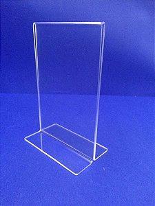 Display T em acrílico - (10 x 15 cm) - (15 x 21 cm) - (21 x 30 cm)