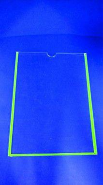 Porta Folha de Acrílico para Parede - tamanho A5 de acrílico - simples