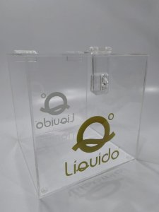 Urna quadrada de Acrílico 20 x 20 cm - 3 mm