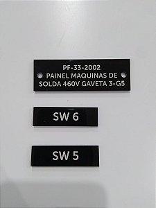 Plaquetas para Quadro de Energia -  50 x 15 mm
