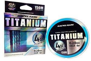 Linha de Pesca Multifilamento TITANIUM 4X 0,20 150m Amarela