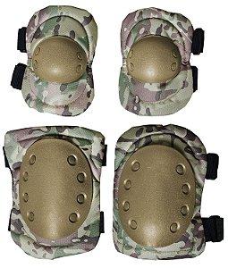 Kit Proteção Joelheira e Cotoveleira Albatroz KCJ-02