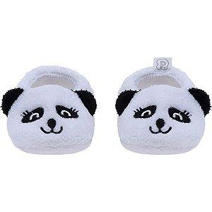 Pantufa Baby Panda Branco Pimpolho (0-7m)