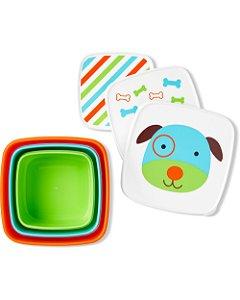 Kit 3 Potes de Lanche Zoo Skip Hop Cachorro