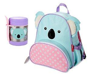 Kit Escolar Mochila Costas e Pote Térmico Skip Hop Koala