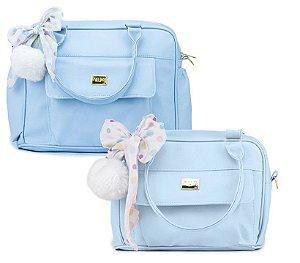 Kit Bolsas Maternidade Grande Média Hug Requinte Azul