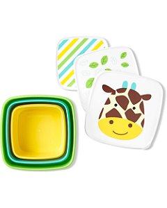 Kit 3 Potes de Lanche Zoo Skip Hop Girafa