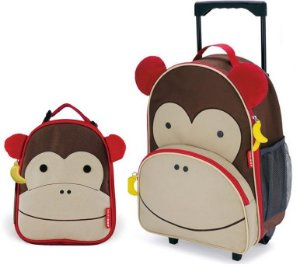 Kit Escolar Mochila de Rodinhas e Lancheira Skip Hop Macaco