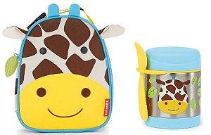 Kit Escolar Lancheira e Pote Térmico Skip Hop Girafa