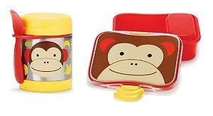 Kit Escolar Pote Térmico e Kit Lanche Skip Hop Macaco
