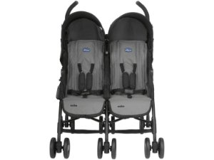 Carrinho de Bebê Gêmeos Echo Twin Coal Chicco - 2 Posições até 15kg