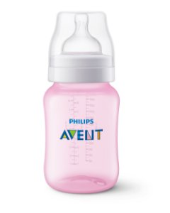 Mamadeira Clássica 260ml Rosa Philips Avent (1m+)
