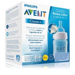 Kit Mamadeira Clássica 125ml 2 Unidades Philips Avent (0m+)