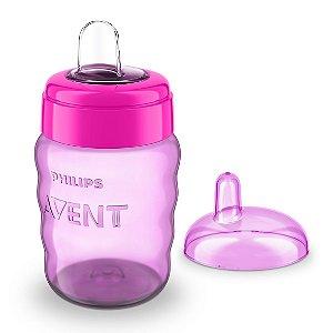 Copo Bico de Silicone Easy Sip Cup 260ml Rosa Philips Avent (9m+)