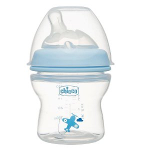 Mamadeira Step Up 150ml Fluxo Normal Azul Chicco (0m+)