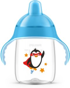 Copo de Treinamento 340ml Pinguim Azul Philips Avent (18m+)