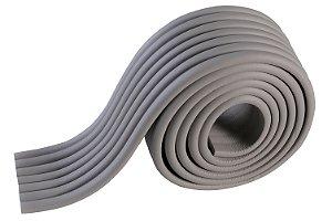 Protetor de Quina em Tiras Canto Parede Móveis Formato W Cinza