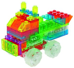 Blocos de Montar 4 em 1 com Luzes Mini Caminhões ZippyDo Laser Pegs