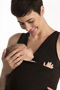 Camiseta Canguru Preta Penka Feminina EGG - Bebês até 7kg