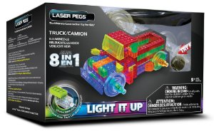 Blocos de Montar 8 em 1 com Luzes Caminhão Laser Pages