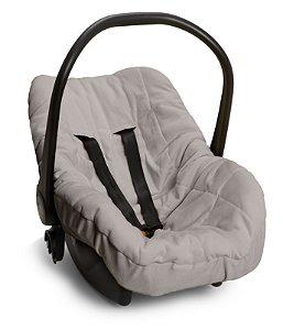 Capa Forro para Bebê Conforto Cinza Hug Baby