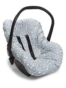 Capa Forro para Bebê Conforto Cinza Nuvens de Algodão Hug Baby