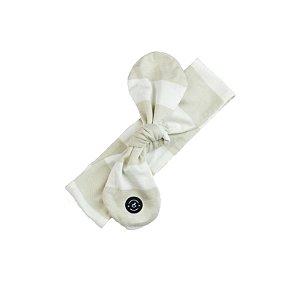 Faixa de Cabelo para Bebê Penka Mulan Bege e Branco (0-12m)