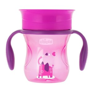 Copo 360° Perfect 200ml Rosa Elefante Chicco (12m+)