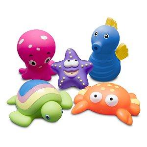 Brinquedos para Banho Animais Marinhos Comtac Kids (9m+)