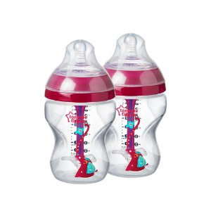 Kit Mamadeiras Advanced Anticólica 260ml Tommee Tippee Rosa (0m+)