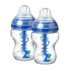 Kit Mamadeiras Advanced Anticólica 260ml Tommee Tippee Azul (0m+)